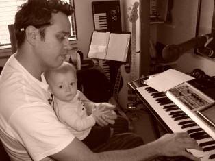 Damon & Dante working on a song